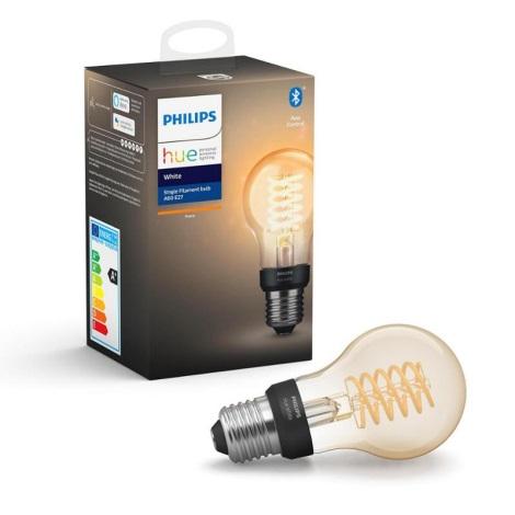 LED Zatemnitvena žarnica Philips HUE WHITE FILAMENT A60 E27/7W/230V