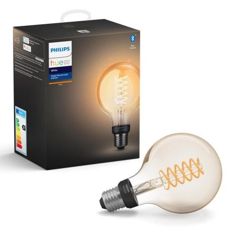 LED Zatemnitvena žarnica Philips HUE WHITE FILAMENT G93 E27/7W/230V