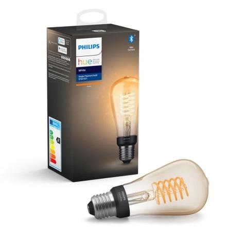 LED Zatemnitvena žarnica Philips HUE WHITE FILAMENT ST64 E27/7W/230V