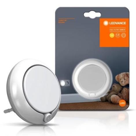 Ledvance - LED Nočna luč s senzorjem LUNETTA LED/0,3W/230V
