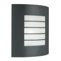 Massive 01726/01/93 - Zunanja stenska svetilka OSLO 1xE27/60W temna siva IP44