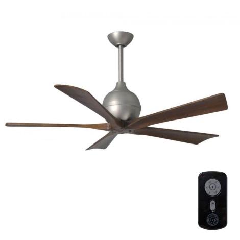 Matthews VEN-IR5-52 - Stropni ventilator IRENE 52″ mat nikelj/oreh