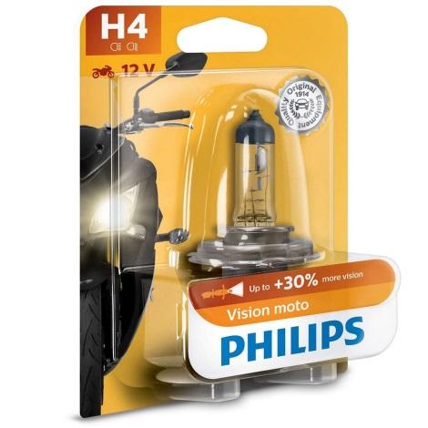 Moto žarnica Philips VISION MOTO 12342PRBW H4 P43t-38/60/55W/12V