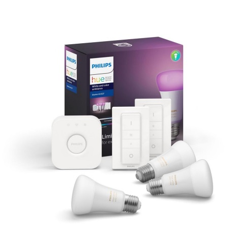 Osnovni komplet Philips HUE WHITE AND COLOR AMBIANCE 3xE27/9W/230V