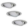 Paulmann 92089 - KOMPLET 3x LED Vgradna svetilka 3xLED/4,2W/230V