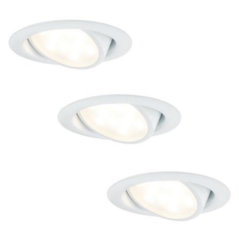 Paulmann 92091 - KOMPLET 3x LED Vgradna svetilka 3xLED/4,2W/230V