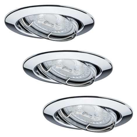 Paulmann 92101 - KOMPLET 3x LED Vgradna svetilka 3xGU10/6,5W/230V