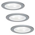 Paulmann 93544 - KOMPLET 3x LED Vgradna svetilka MICRO LINE 3xLED/3W/230V