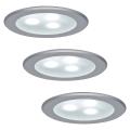 Paulmann 98351 - KOMPLET 3xLED/3W Vgradna svetilka MICRO LINE 230V