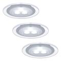 Paulmann 98352 - KOMPLET 3x LED Vgradna svetilka MICRO LINE 3xLED/3W/230V/12V