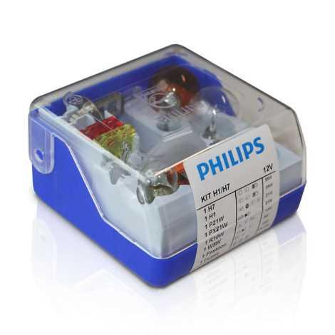 Philips 55007SKKM - Komplet nadomestnih avtožarnic H7/H1 12V