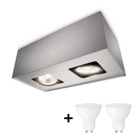 Philips 56232/48/PN - LED Reflektor TEMPO 2xGU10/6W/230V