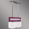 Prezent 51262 - Obesna svetilka SANGA 2xE14/60W vijolična