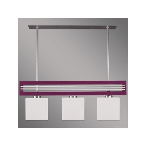 Prezent 51263 - Obesna svetilka SANGA 3xE14/60W vijolična