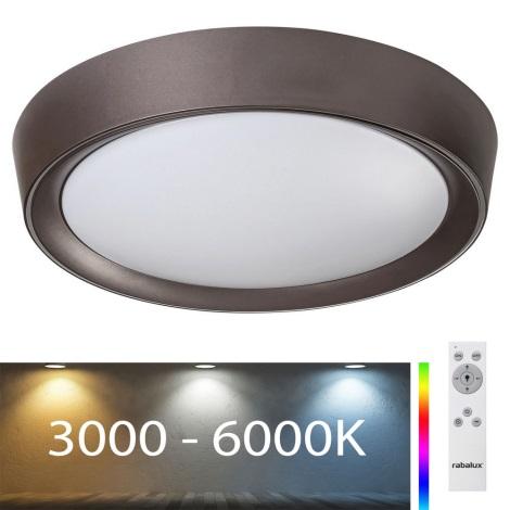 Rabalux - LED RGB Zatemnitvena stropna svetilka LED/24W/230V + Daljinski upravljalnik 3000-6000K