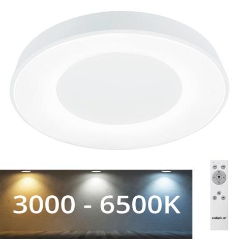 Rabalux - LED Zatemnitvena stropna svetilka LED/38W/230V bela + Daljinski upravljalnik 3000-6500K