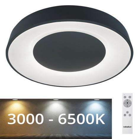 Rabalux - LED Zatemnitvena stropna svetilka LED/38W/230V črna 3000-6500K + Daljinski upravljalnik