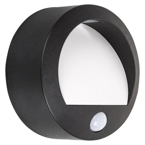 Rabalux - LED Zunanja Stenska svetilka s senzorjem LED/1,5W/3xAA IP44 črna