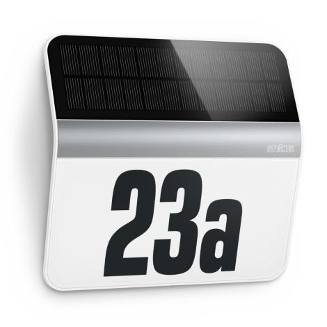 STEINEL 007140 - LED Solarna hišna številka XSolar LH-N LED/0,03W nerjaveče jeklo IP44
