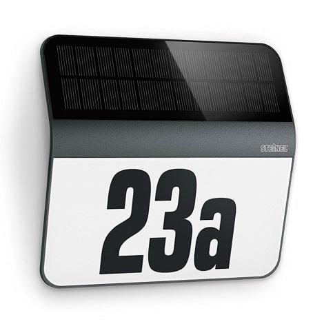 STEINEL 0357530 - LED Solarna hišna številka LED/0,03W IP44