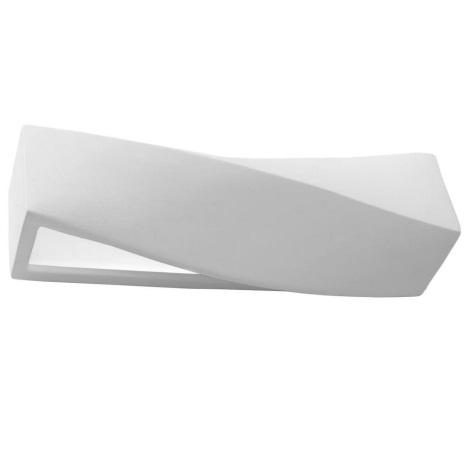 Stenska svetilka SIGMA 1xE27/60W/230V bela