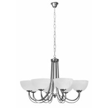 Top Light 80/8/2/Č-Cr - Lestenec na verigi MURANO 8xE14/60W/230V