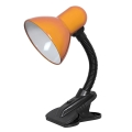 Top Light - Luč s sponko 1xE27/60W/230V oranžna