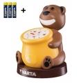 Varta 17501 - LED Otroška projektorska svetilka PAUL 2xLED/3xAA