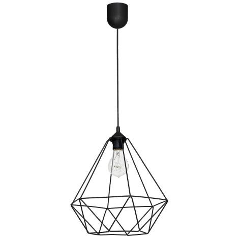 Viseča svetilka BASKET 1xE27/60W/230V črna